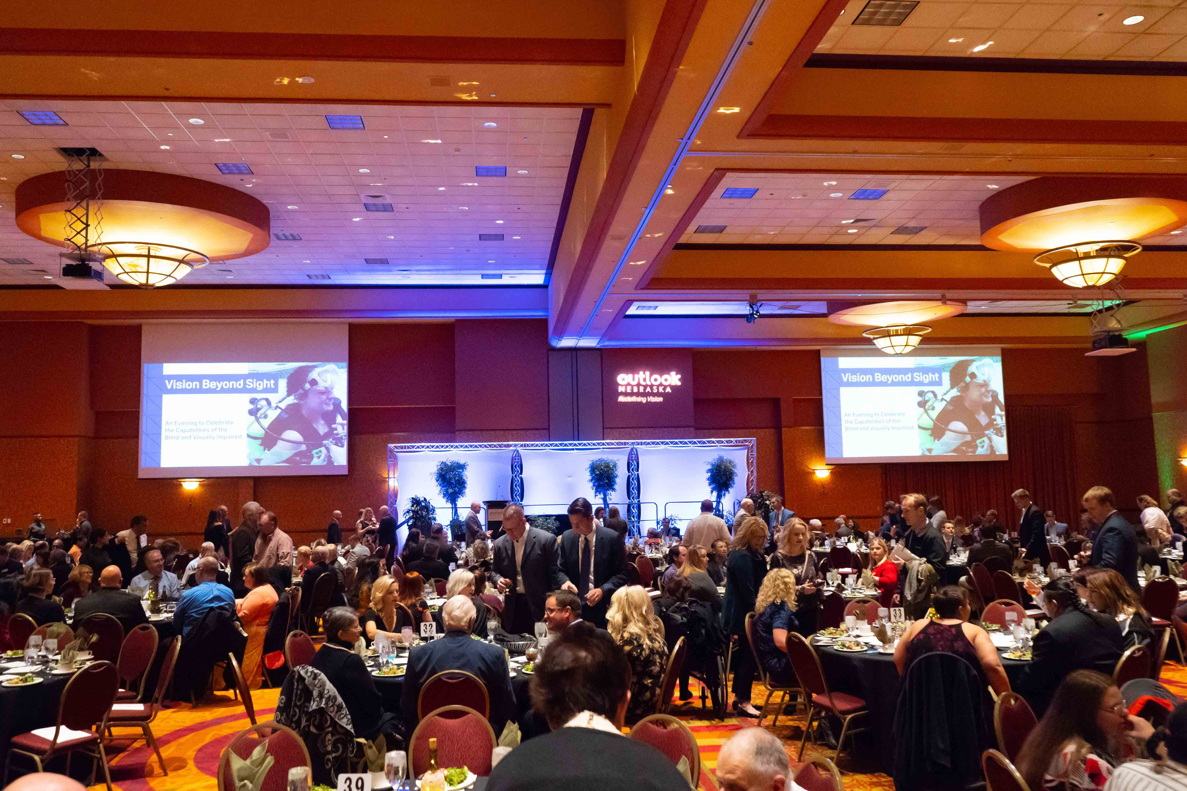 Image of a the full banquet hall at vision beyond sight